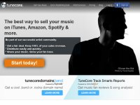 tunecore.com screenshot